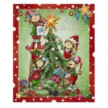 KARÁCSONYI PLÉD 130 X 160 HAPPY CHRISTMAS